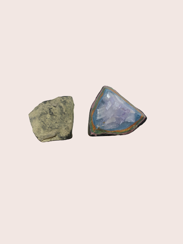 Geode soap Charcoal Clay